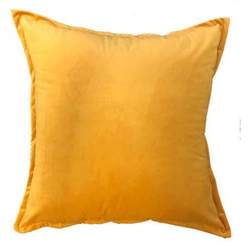 Velvet Scatter cushion in Amber colour