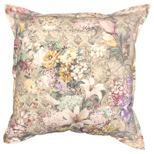 Burst Floral Scatter cushion in Chianti colours