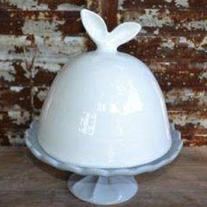 Ceramic Cake Dome with Bunny Ears