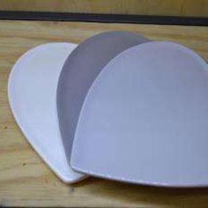 Handmade ceramic platter in heart shape