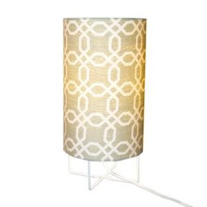 Clover, a table lamp with Grey Hex design shade