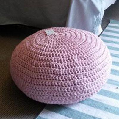 Soft Pink Floor pebble for Children's Room