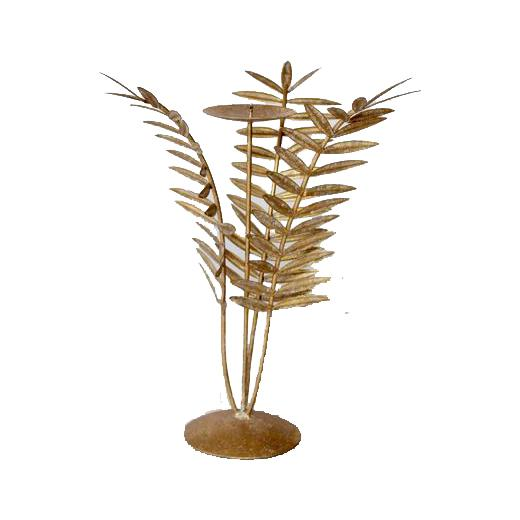 Fern candle holder