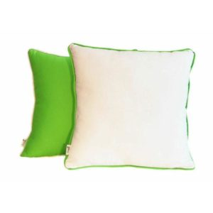 White and Lime Scatter Cushion Design 'Pop'