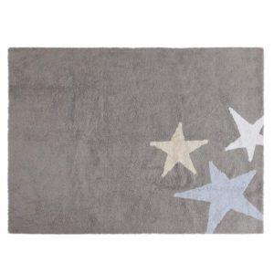 Three Stars Rug in Blue