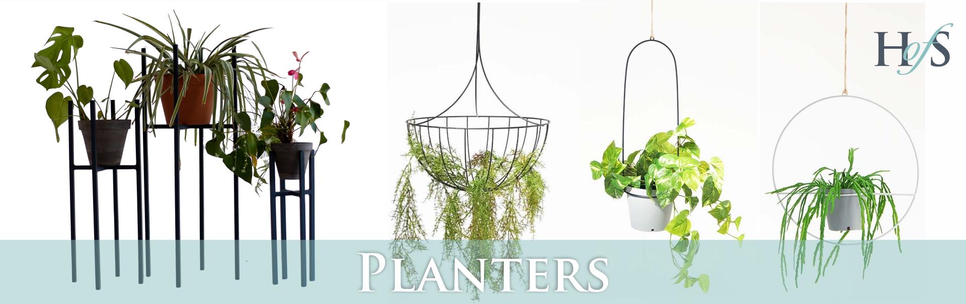 Hanging and Standing indoor planter stands